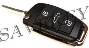 Дистанционный ключ Audi (433 Mhz) ID48 чип,HU66 лезвие