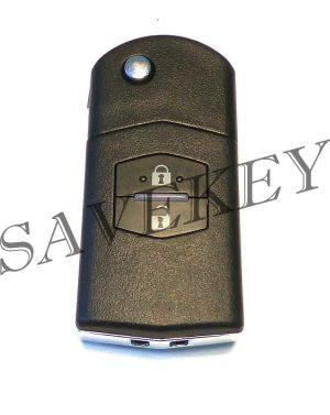 Корпус ключа Mazda 2 кнопки