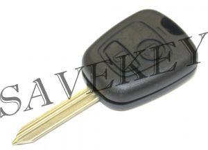 Дистанционный ключ Citroen с двумя кнопками