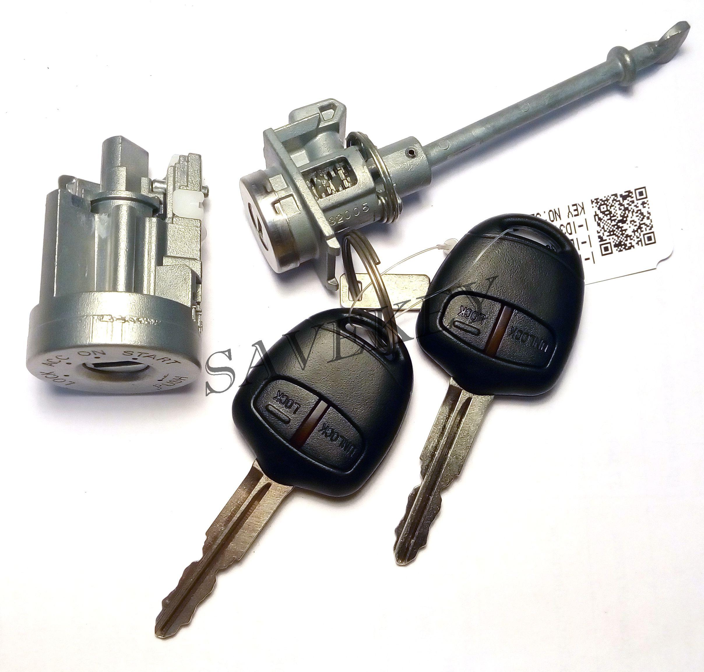 Комплект замков зажигания и водительской двери с 2-мя ключами Mitsubishi