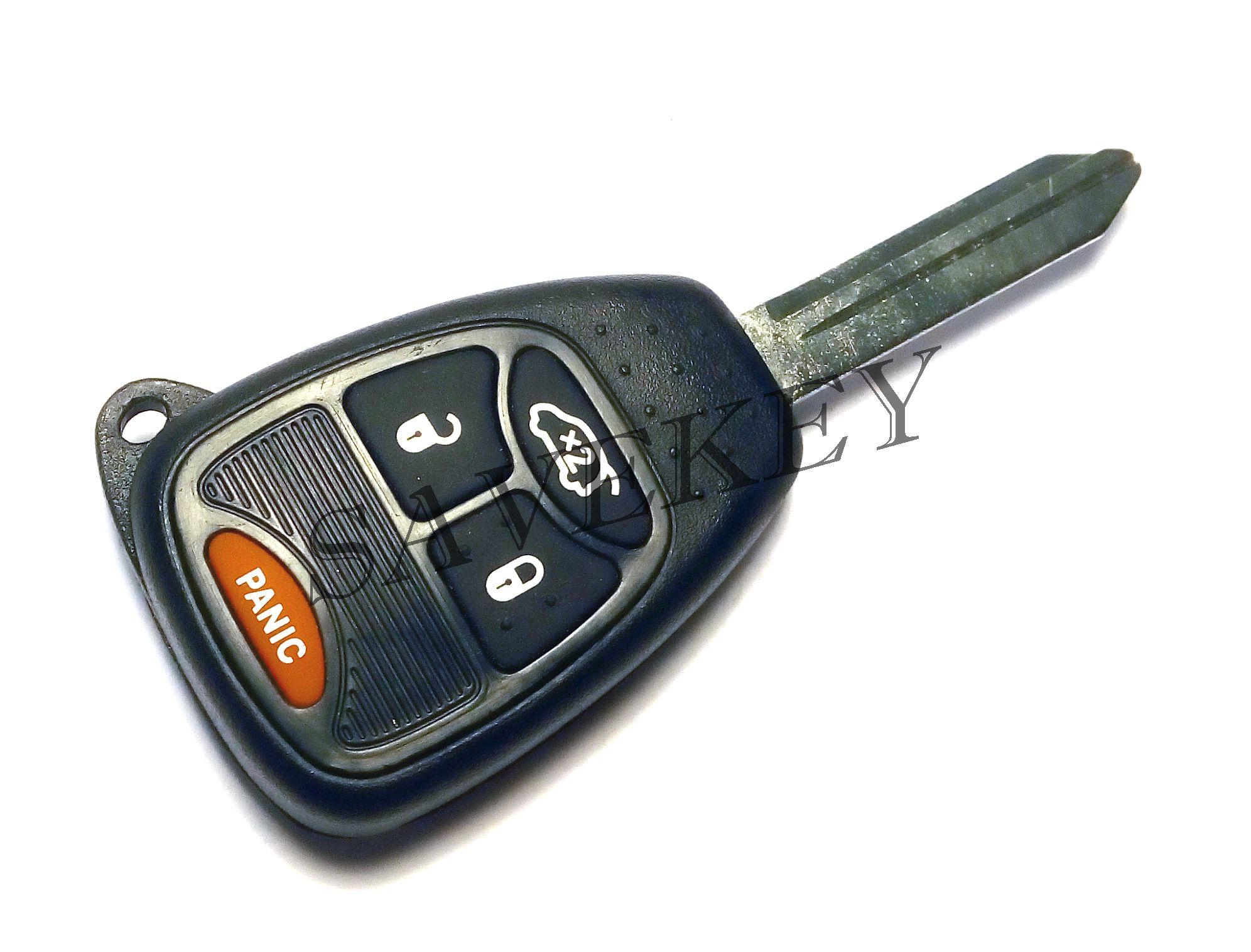 Дистанционный ключ Chrysler для моделей PT CRUISER 2006-2010,SEBRING 2007-2010,300C 2005-2007,ASPEN 2007-2009 4 кнопки 433 Mhz