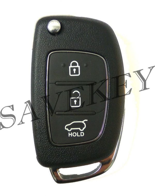 Дистанционный ключ Hyundai для моделей TUCSON с 2015г, IX 35 с 2013г, SANTA FE c 2012г,  GRAND SANTA FE с 2013г.