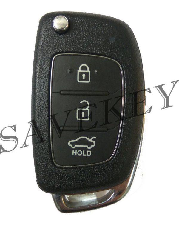Дистанционный ключ Hyundai для модели SOLARIS с 2015-2016г.