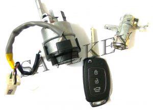 Оригинальный новый комплект замков (зажигания и водительской двери) с выкидным ключем для HYUNDAI SOLARIS c 2013 г.в.