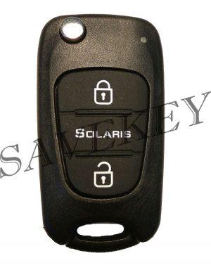 Дистанционный ключ hyundai для модели solaris с 2011-2013 г