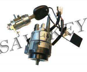 Оригинальный новый комплект замков (зажигания и водительской двери) с  ключем для hyundai solaris c 2011 г.в.